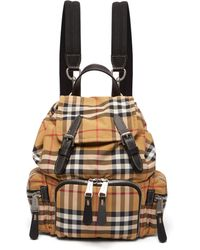 Burberry - Vintage Check Mini Canvas Backpack - Lyst