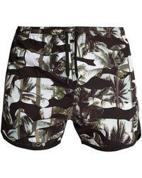 Neil Barrett | Camouflage Palm-print Swim Shorts | Lyst