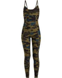 The Upside - Camouflage Print Stretch Jersey Bodysuit - Lyst