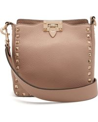 Valentino - Rockstud Grained Leather Cross Body Bag - Lyst