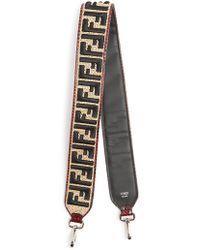 Fendi | Strap You Logo-embroidered Raffia Bag Strap | Lyst