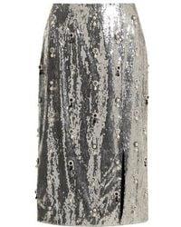 Erdem - Tahira Sequin-embellished Skirt - Lyst