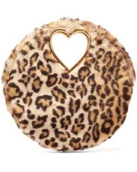Shrimps - Martini Leopard-print Faux Fur Clutch - Lyst
