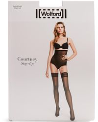 Wolford - Courtney Stay-up Tights - Lyst