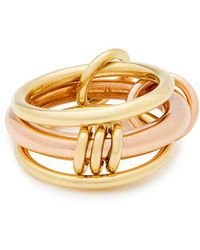 Spinelli Kilcollin - Gemini 18kt Gold And Rose Gold Ring - Lyst