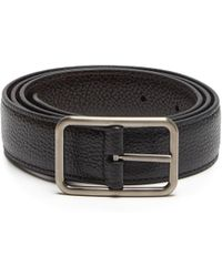 Lanvin | Reversible Grained-leather Belt | Lyst