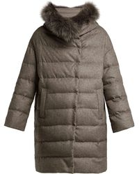 Herno - Padded Silk And Cashmere Parka - Lyst