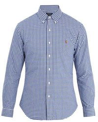 Polo Ralph Lauren - Logo-embroidered Gingham Cotton Shirt - Lyst