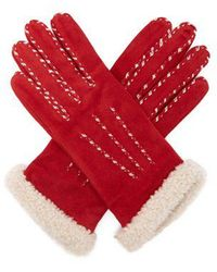 Agnelle - Marie-louise Suede Gloves - Lyst
