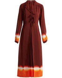 Marco De Vincenzo - Contrast-panel Silk Crepe De Chine Dress - Lyst