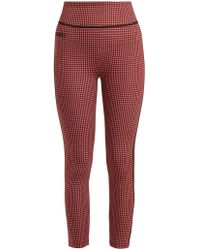 Fendi - High Rise Checked Leggings - Lyst