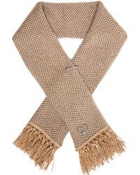 Queene And Belle - Tassel-embellished Chevron-knit Wool Scarf - Lyst