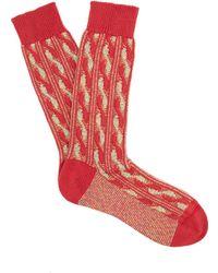 Pantherella | Charlecote Cotton-blend Socks | Lyst