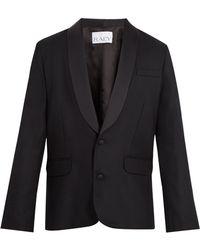 Raey - Satin Lapel Wool Tuxedo Jacket - Lyst