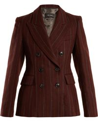 Isabel Marant | Kelsey Double-breasted Striped Wool-blend Jacket | Lyst