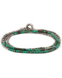 M. Cohen - Horizon Bead Embellished Silver Bracelet - Lyst