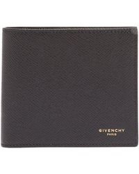 Givenchy - Logo Grained Leather Billfold Wallet - Lyst