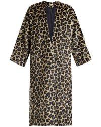 MASSCOB - Timothee Leopard Print Faux Fur Coat - Lyst