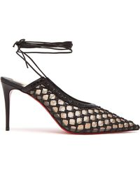 Christian Louboutin - X Roland Mouret Cage And Curry 85 Leather Court Shoes - Lyst