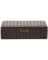 Bottega Veneta - Intrecciato Leather Cufflinks Box - Lyst