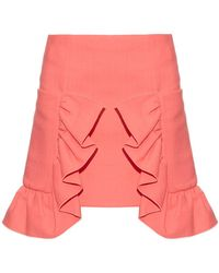 Marni - Ruffled Cotton-blend Crepe Skirt - Lyst