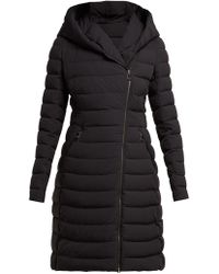 Moncler - Barge Asymmetric Zip Quilted Down Filled Coat - Lyst