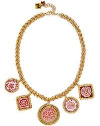 Rosantica By Michela Panero - Ciucciue Painted-tile Charm Necklace - Lyst