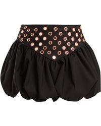 Polka dot mini dress black bubble skirt saks