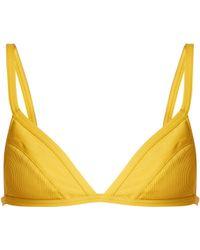 Three Graces London | Asterea Triangle Bikini Top | Lyst