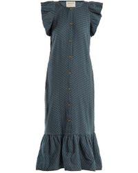 Cecilie Copenhagen - Jehro Scarf-jacquard Cotton Dress - Lyst