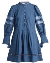 Sea - Capri Balloon-sleeve Cotton Dress - Lyst