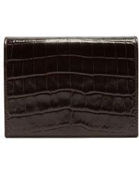 Smythson - Mara Crocodile Effect Leather Bridge Card Case Brown - Lyst
