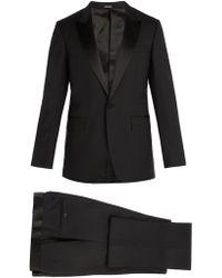 Lanvin - Single Breasted Wool Blend Tuxedo - Lyst