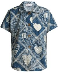 RED Valentino - Short-sleeved Heart-print Shirt - Lyst