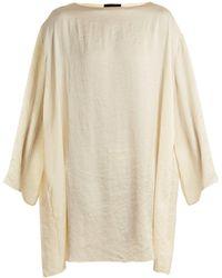 The Row - Tharpe Charmeuse Tunic Dress - Lyst