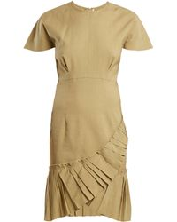 Isabel Marant - Rimba Pleated Hem Linen Blend Dress - Lyst