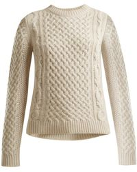 Nili Lotan - Cable-knit Cashmere Sweater - Lyst