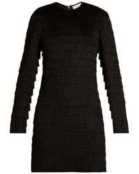 Raey - Long-sleeved Fringed Dress - Lyst