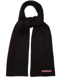 Prada - All Designer Products - Ribbed-knit Wool Scarf - Lyst