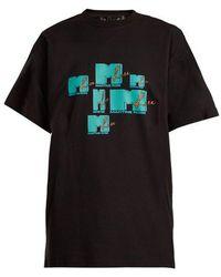 Martine Rose - - Mtv Print Cotton T Shirt - Womens - Black - Lyst