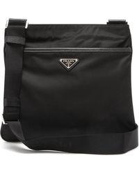 2e90c5010cdd23 Prada - Logo Messenger Bag - Lyst