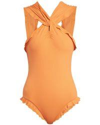 Marysia Swim - Oxford Maillot Ruffle Swimsuit - Lyst