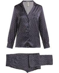 Stella McCartney - Elle Leaping Printed Silk Blend Pyjama Set - Lyst