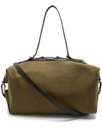 Saint Laurent - Large Canvas And Leather Holdall - Lyst
