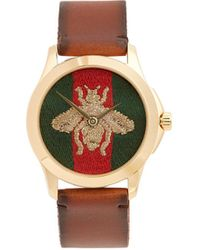 Gucci - Bee-embroidered Watch - Lyst