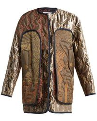 Peter Pilotto - Graphic-embroidered Lightly-padded Coat - Lyst
