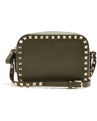 Valentino - Rockstud Camera Leather Cross-body Bag - Lyst