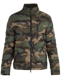Valentino - Camouflage-print Quilted Down Jacket - Lyst