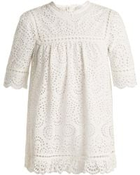 Zimmermann - Bayou Embroidered Cotton Top - Lyst