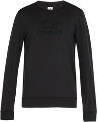 C P Company - Embroidered-logo Sweatshirt - Lyst